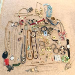 102 Piece Jewelry Lot 5 NWT Semi Precious